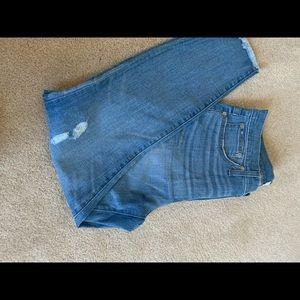 J.Crew skinny jean worn look; size 31